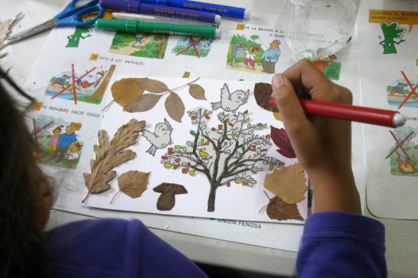 pintando y hojas 2